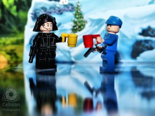 Day 4: Imperial Navy Trooper having a warm cuppa with his mate by the frozen lake.